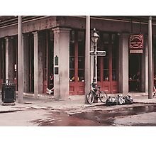New Orleans Street Photo - Chartres Street Cajun Cafe Photographic Print