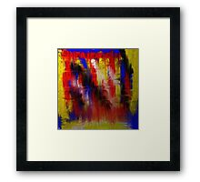 Abstract Primary Framed Print