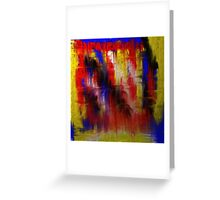 Abstract Primary Greeting Card