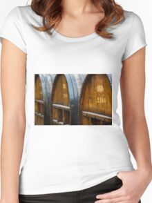 The Wine Barrels Women's Fitted Scoop T-Shirt