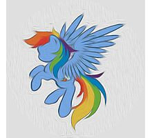 Rainbow Dash Abstract 2 (White + Oil Paint) Photographic Print