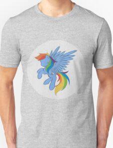 Rainbow Dash Abstract 2 (White + Oil Paint) Unisex T-Shirt