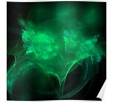 Green World Dragon Fractal Poster