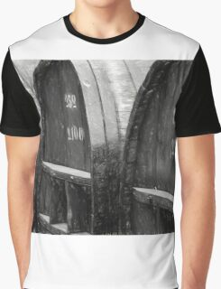 The Wine Barrels - Charcoal Impression Graphic T-Shirt