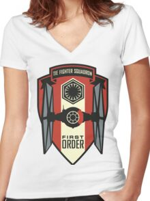 The First Order Fighter Squadron Women's Fitted V-Neck T-Shirt