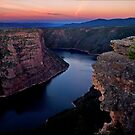 Flaming Gorge Sunset - Utah by Kathy Weaver