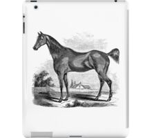 Vintage Horse Illustration Farm Retro 1800s Black and White Image iPad Case/Skin