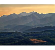 Evening In the Rockies -  Montana Photographic Print