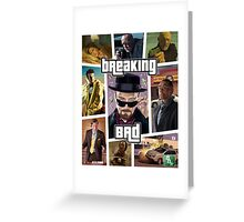 Breaking Bad / Grand Theft Auto Crossover (Clear Frame) Greeting Card