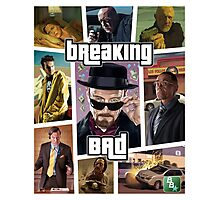 Breaking Bad / Grand Theft Auto Crossover (Clear Frame) Photographic Print