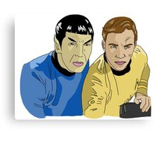 The Captain and His Science Officer Canvas Print