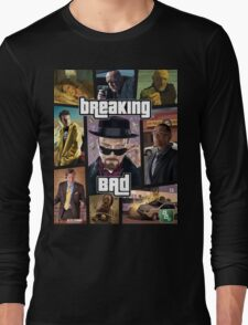 Breaking Bad / Grand Theft Auto Crossover (Clear Frame) Long Sleeve T-Shirt
