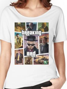 Breaking Bad / Grand Theft Auto Crossover (Clear Frame) Women's Relaxed Fit T-Shirt