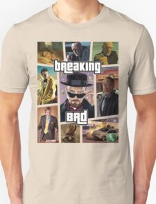 Breaking Bad / Grand Theft Auto Crossover (Clear Frame) Unisex T-Shirt