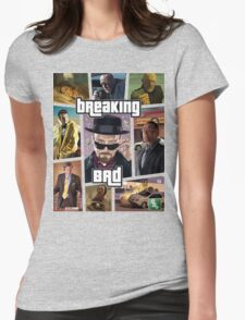 Breaking Bad / Grand Theft Auto Crossover (Clear Frame) Womens Fitted T-Shirt