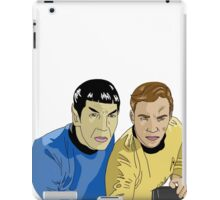 The Captain and His Science Officer iPad Case/Skin