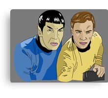 The Captain and His Science Officer in Grey Canvas Print