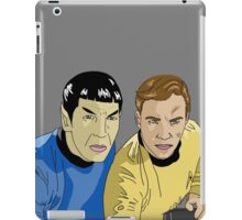 The Captain and His Science Officer in Grey iPad Case/Skin