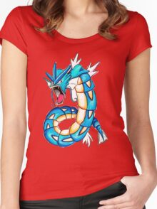 Gyarados watercolor Women's Fitted Scoop T-Shirt