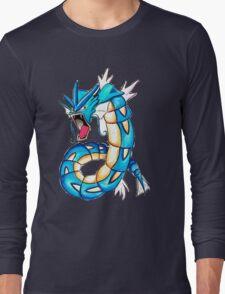 Gyarados watercolor Long Sleeve T-Shirt