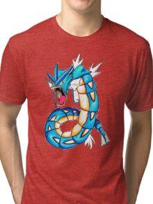 Gyarados watercolor Tri-blend T-Shirt