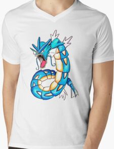 Gyarados watercolor Mens V-Neck T-Shirt