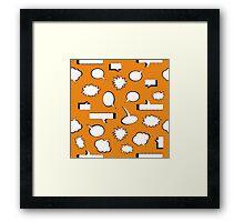 Comic Book Pow - Orange Framed Print