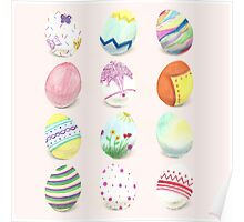 Painted Easter Eggs Poster