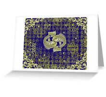 Two fish in gold Greeting Card