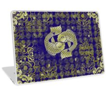 Two fish in gold Laptop Skin