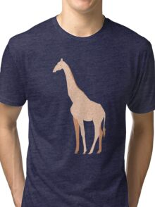 Orange Giraffe Tri-blend T-Shirt