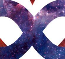 Space Love [Tarantula Nebula] | Polyamory Logo 2.0 | Team Poly Official Shirt Sticker