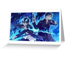 Blue exorcist  Greeting Card