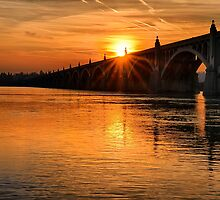 Wrightsville Bridge at Sunset by KellyHeaton