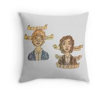 Be Quiet Yourself, Remus! Throw Pillow