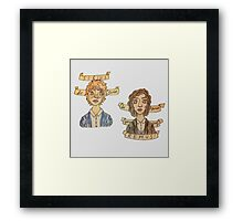 Be Quiet Yourself, Remus! Framed Print