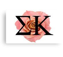Sigma Kappa Rose Canvas Print