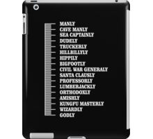 Beard scale iPad Case/Skin