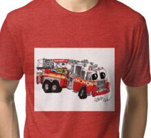 FDNY Tower Ladder 1 Tri-blend T-Shirt