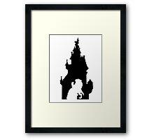 Beauty and The Beast (Black) Framed Print