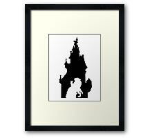 Beauty and The Beast (Black) Framed Print