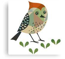 Cute Cartoon Red Robin Bird Illustration Canvas Print