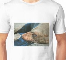 0036 Asleep on the beach Unisex T-Shirt
