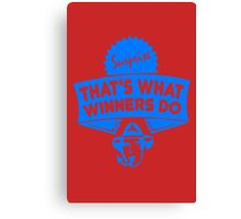 Charlie Sheen That's What Winners Do Canvas Print