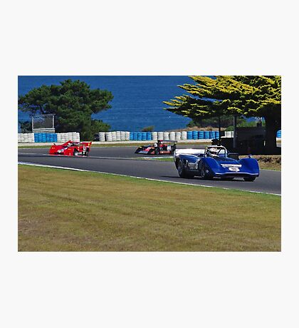 Can-Am Sports Cars at the Island Photographic Print