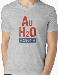 Barry Goldwater 'AuH2O' 1964 Presidential Campaign Mens V-Neck T-Shirt