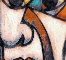 picasso graffiti # 5 Sticker