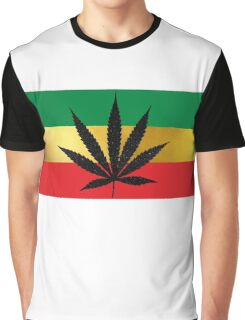 Jamaican Rasta Color Weed Graphic T-Shirt