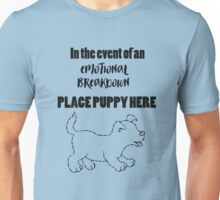 """""""Place Puppy Here"""" Dog Lover Unisex T-Shirt"""