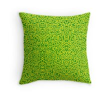 Keith Wall Yellow - Select Your Colour Throw Pillow